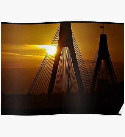 Sunset Bridge ~ Sydney Poster