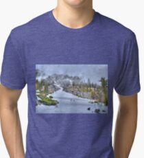 Snowy Road Tri-blend T-Shirt