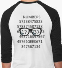 NUMBERS GEEK Men's Baseball ¾ T-Shirt