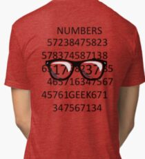 NUMBERS GEEK Tri-blend T-Shirt