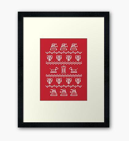 Timey Wimey Sweater Framed Print