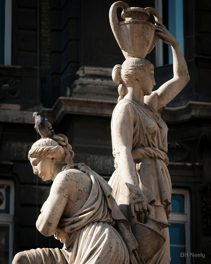 Statue with Pigeon by BH Neely