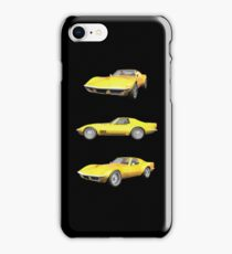 Yellow 1970 Corvette iPhone Case/Skin