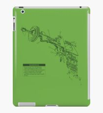 Ray Gun Warning Label Shirt iPad Case/Skin