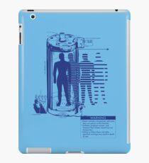 Teleporter Warning Label Shirt iPad Case/Skin