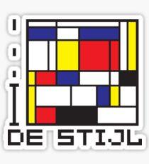 I LOVE DE STIJL T-shirt Sticker
