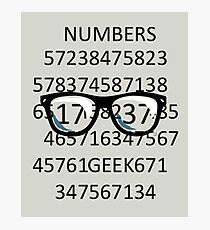 NUMBERS GEEK Photographic Print