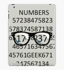 NUMBERS GEEK iPad Case/Skin