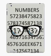NUMBERS GEEK iPad Case/Skin