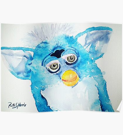 Blue Furby Poster