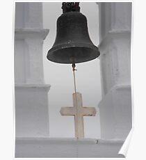Greek Island Church Bell Poster