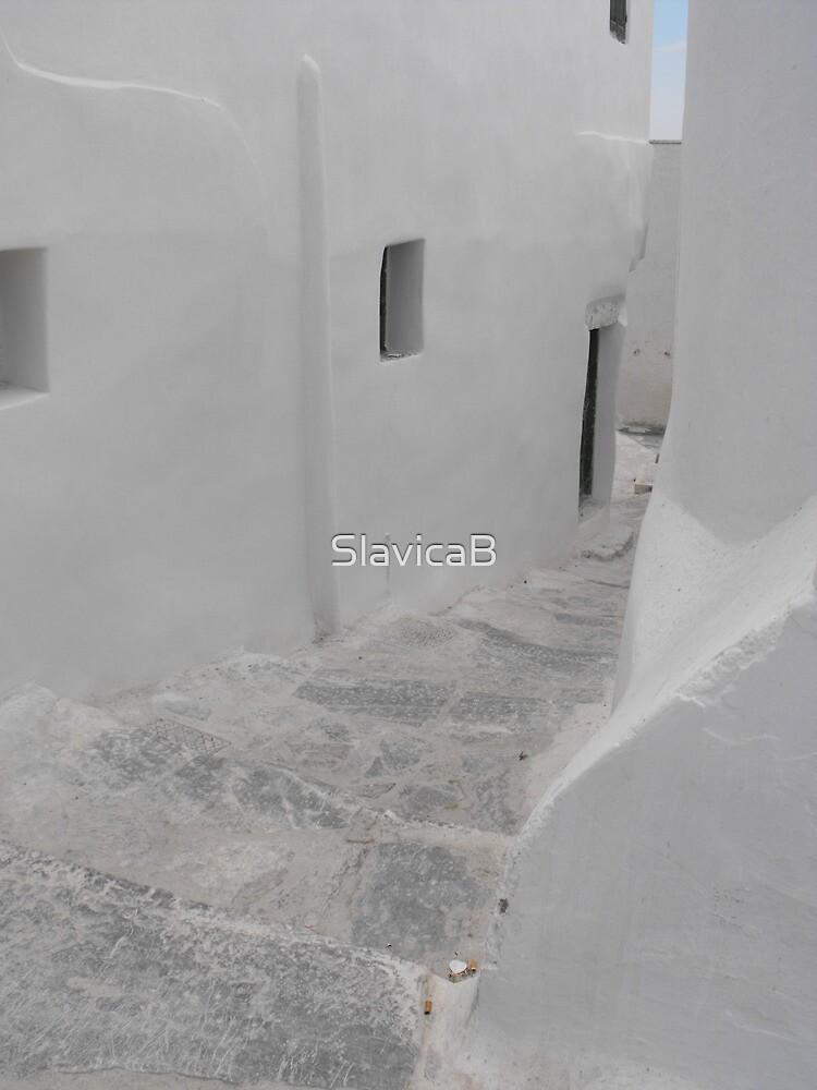 Greek Island empty alley 1 by SlavicaB