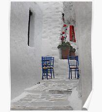 Greek Island empty street Poster