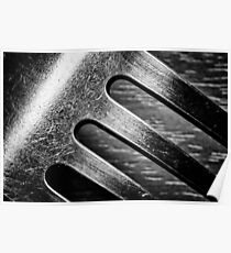 Monochrome Kitchen Fork Abstract Poster