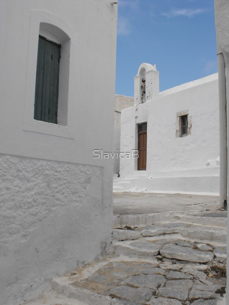 Greek Island empty street 1 by SlavicaB