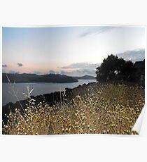 Greek Island Sunset view Poster