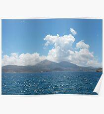 Greek Island Sailing Poster