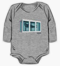 Hirst's Shark Tank Long Sleeve Baby One-Piece