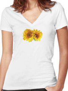 Naturally Blonde Sunflowers Women's Fitted V-Neck T-Shirt