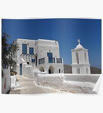 Greek Island Church 6 Poster