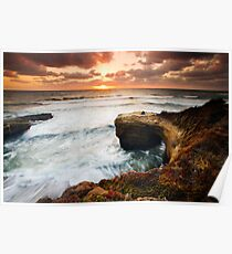 Picnic Romance at Sunset Cliffs San Diego Poster