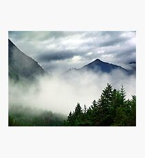 Mountain In The Mist- Mt. Terry Fox Photographic Print