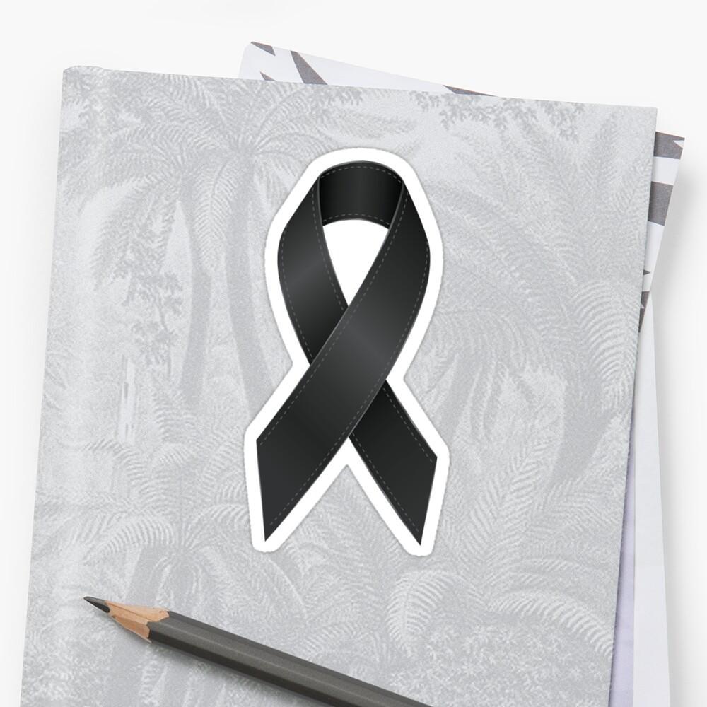 Schwarzes Band Sticker