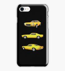 Yellow 1972 Camaro  iPhone Case/Skin