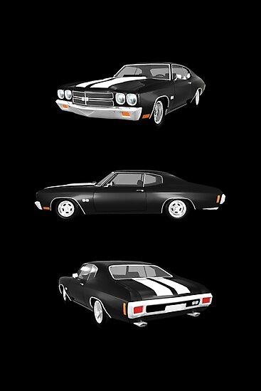 Black 1970 Chevelle SS by bradyarnold