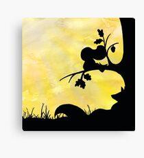 Woodland Shadows - Fox and Squirrel:Summer Canvas Print
