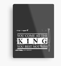 """You Come at the King, You Best Not Miss"" - The Wire (Light) Metal Print"
