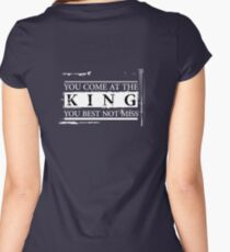 """""""You Come at the King, You Best Not Miss"""" - The Wire (Light) Women's Fitted Scoop T-Shirt"""