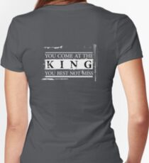 """You Come at the King, You Best Not Miss"" - The Wire (Light) Women's Fitted V-Neck T-Shirt"