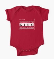 """""""You Come at the King, You Best Not Miss"""" - The Wire (Light) One Piece - Short Sleeve"""