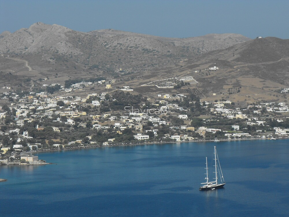 Patmos Greek Island sailboat by SlavicaB