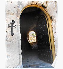 Patmos Greek Island Monastery Entrance #photography Poster