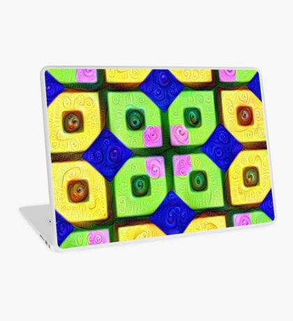 #DeepDream Color Squares Visual Areas 5x5K v1448352654 Laptop Skin