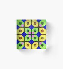 #DeepDream Color Squares Visual Areas 5x5K v1448352654 Acrylic Block
