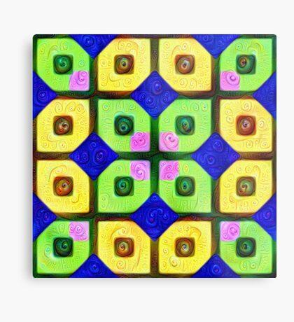 #DeepDream Color Squares Visual Areas 5x5K v1448352654 Metal Print