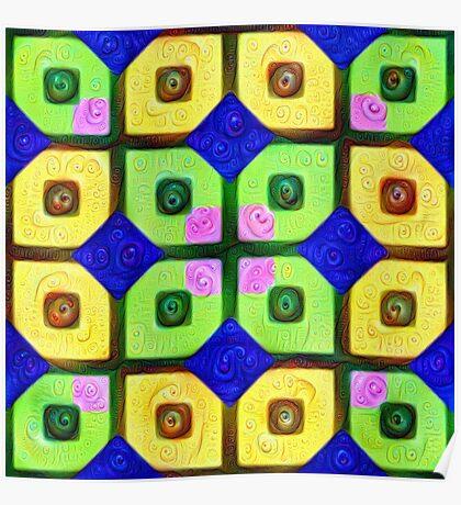 #DeepDream Color Squares Visual Areas 5x5K v1448352654 Poster