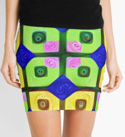 #DeepDream Color Squares Visual Areas 5x5K v1448352654 Mini Skirt