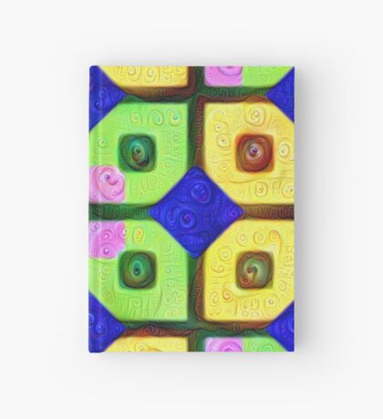#DeepDream Color Squares Visual Areas 5x5K v1448352654 Hardcover Journal