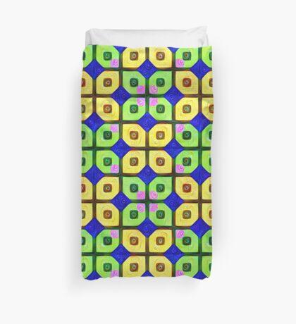 #DeepDream Color Squares Visual Areas 5x5K v1448352654 Duvet Cover