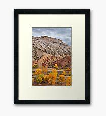 Split Mountain Color Framed Print