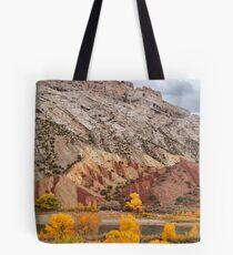 Split Mountain Color Tote Bag