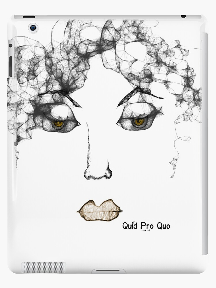 iPad Case ... Quid Pro Quo by Carmen Holly