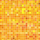 Orange Mosaic [iPhone / iPad / iPod Case] by Damienne Bingham