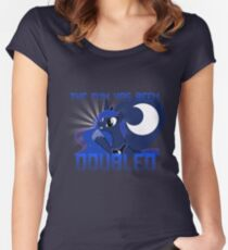"""Princess Luna """"The Fun Has Been Doubled"""" Women's Fitted Scoop T-Shirt"""