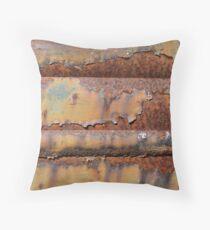 Rust Wall Art Throw Pillow