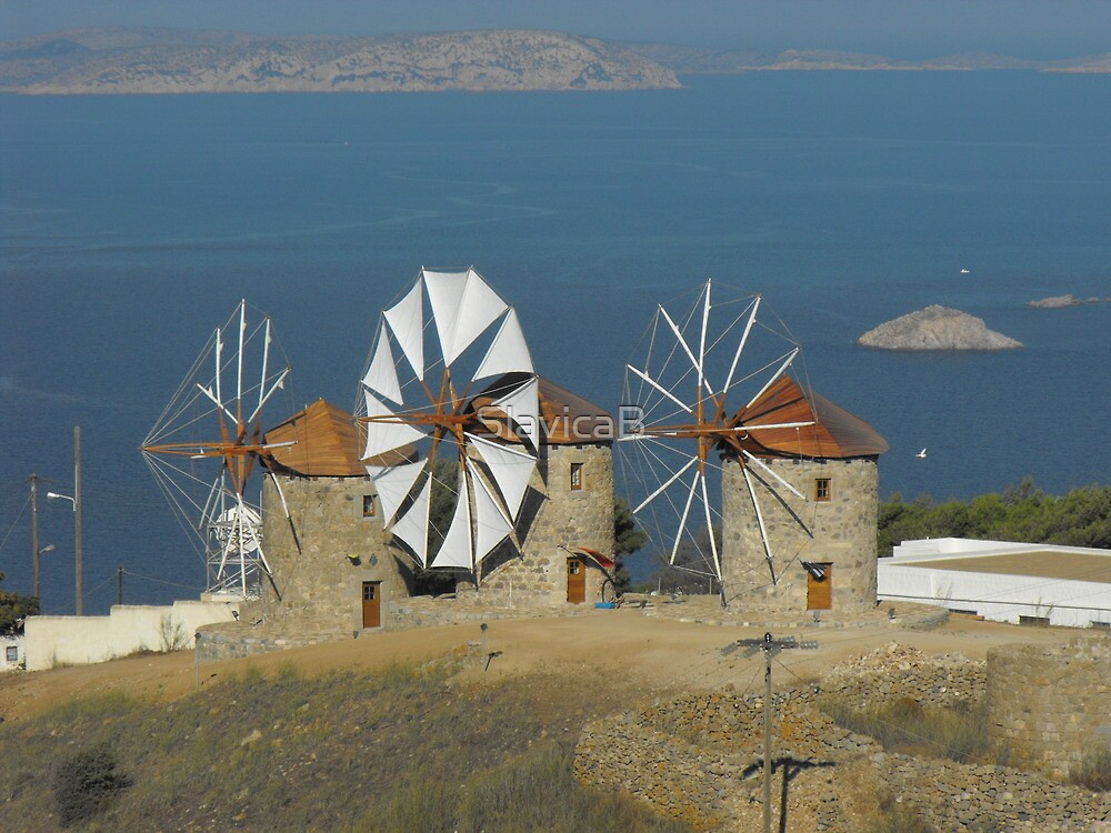 Quot Greek Island Patmos Windmills Photography Quot By Slavicab